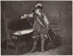 Robert Jefferson Bingham | Fotoreproductie van schilderij door Paul Delaroche: Cromwell et Charles Ier, Robert Jefferson Bingham, Goupil & Cie, 1858 |