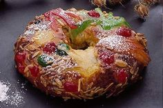 Kings Cake (Bolo Rei) - Traditional Portuguese cake that is usually eaten around Christmas, from December 25 until the Dia de Reis on January 6.