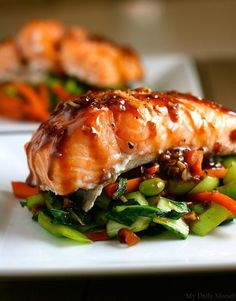 Asian Slow-Roasted Salmon- add 1-2  teaspoons of sugar and squeeze a bit of lemon elu