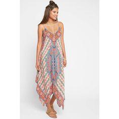 Tolani Drew Maxi Dress ($138) ❤ liked on Polyvore featuring dresses, red multi, silk maxi dress, summer dresses, colorful maxi dress, white silk dress and print maxi dress