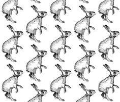The Curious Bunny fabric by taraput on Spoonflower - custom fabric.  Love this fabric