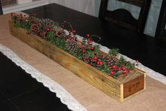 Pallet Table Runner Box for Your New Years Eve
