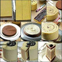 How To Make A Striped Cake