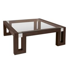 Calligraphy Square Glass Top Cocktail Table In Espresso Finish With Brushed Stainless Steel Accents By Allan Copley Designs Espresso Coffee Table, Cool Coffee Tables, Coffee Table With Storage, Decorating Coffee Tables, Modern Coffee Tables, Brown Coffee, Steel Table, Wood Table, Dining Table