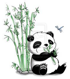 panda drawing - Drawing Tips Cute Panda Drawing, Cute Animal Drawings, Cute Drawings, Bamboo Drawing, Panda Illustration, Panda Images, Panda Art, Panda Panda, Cartoon Panda