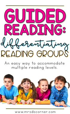 Guided Reading is a key component to literacy instruction in any primary classroom. It typically looks like the teacher working with a small, differentiated group of students... but planning lessons for 5 different groups of students can be difficult and time consuming for the teacher. Learn about this easy way to accommodate multiple reading levels during your guided reading lessons. Blog post at Mrs. D's Corner.