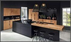 The 37 best black kitchens kitchen trends you need to see 7 Luxury Kitchen Design, Kitchen Room Design, Kitchen Cabinet Design, Home Decor Kitchen, Interior Design Kitchen, Kitchen Designs, Kitchen Ideas, Kitchen Inspiration, Rustic Kitchen