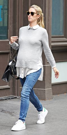 See the best celebrity maternity street style looks to hit the pavement.