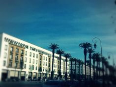 Main road of Casablanca