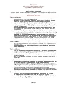 resume sample of a market research manager with over 10 years of experience transforming consumer data into meaningful and actionable insights market research analyst resume sample