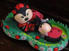 Lindos insetinhos que serve para topo de bolo,enfeites para mesa e lembrancinha.