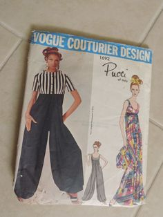 Vintage Vogue Couturier Design Pucci Pattern cut used complete  Sz12  #1692