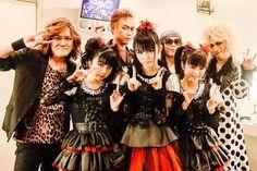 "BABYMETAL with the Japanese Rock Band ""Kinniku Shōjo Tai"" (also called ""KING-SHOW"")."