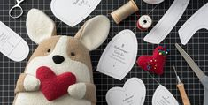 Tutorial and pattern: Adorable corgi dog softie free sewing pattern toy pattern