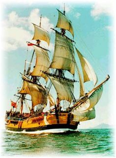 An Century sailing ship Bateau Pirate, Old Sailing Ships, Full Sail, Ship Paintings, Wooden Ship, Submarines, Ship Art, Tall Ships, Water Crafts