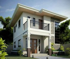 50 images of beautiful two story houses - bahay ofw 3 Storey House Design, Two Story House Design, Simple House Design, House Front Design, Minimalist House Design, Modern House Design, Philippines House Design, House Construction Plan, Philippine Houses