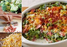 Creamy Bacon Broccoli Bake - very few ingredients and piping hot on your table in 20 minutes!