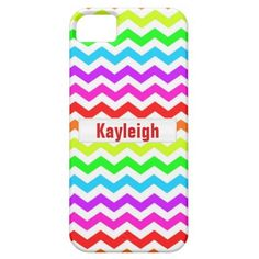 Neon Rainbow Chevron Phone Case   This great neon rainbow chevron patterned case can be personalized with the name of your choice and is available on multiple cases for your phone from the iphone5 and many more! Great gift for that trendy modern girl!