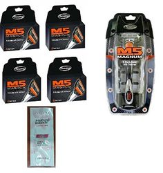 Personna M5 Magnum 5 Razor with Trimmer  M5 Magnum 5 Refill Razor Blade Cartridges 4 ct Pack of 4 with FREE Loving Color trial size conditioner >>> Be sure to check out this awesome product.