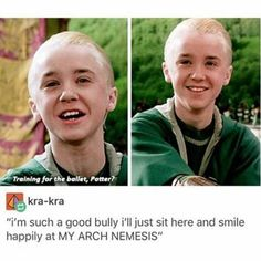 Who else is he smiling at like this? I can't remember anyone but potter #drarry