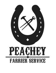 Logo Design: Peachey Farrier Service on Behance