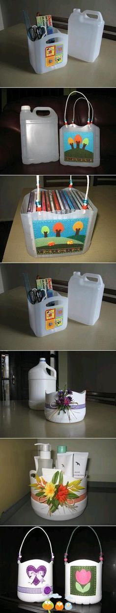 Organizers recycled from Plastic Jugs