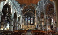 Vue d'ensemble de la nef église Saint Vaast, Béthune.