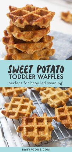 health snacks These mini sweet potato waffles are perfect for babys first finger foods - easy to grasp, easy to gnaw on and easy for you to enjoy right along with them! Theyre a delicious and healthy breakfast, snack, and also great for school lunches! Healthy Breakfast For Kids, Healthy Snacks, Breakfast Recipes, Breakfast Ideas For Kids, Breakfast To Go, Healthy Food For Kids, Healthy Breakfasts, Fun Food, Eating Healthy