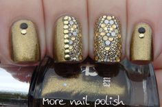 Revlon Marchesa nail wrap - Gilded Mosaic with aEngland Holy Grail ~ More Nail Polish