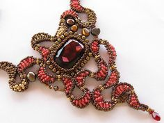Red Dragon Eye necklace | Flickr - Photo Sharing!