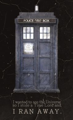"""""""I wanted to see the Universe, so I stole a Time Lord and I ran away."""" -Idris"""