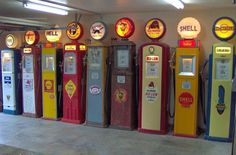 Whole bunch of gas pumps