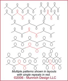 Munnich Design - Quilt Recipes: Digital Quilting Pattern