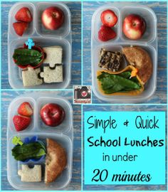Pack simple lunches for all, in under 20 minutes