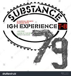 Stylish trendy slogan tee t-shirt graphics print vector illustration design