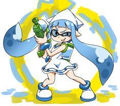 Splatoon fan art from the creator of Squid Girl
