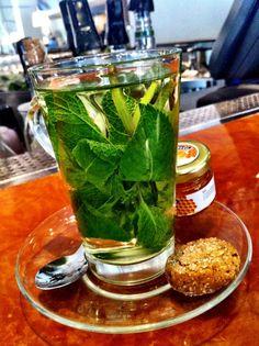mint tea is a must in winter
