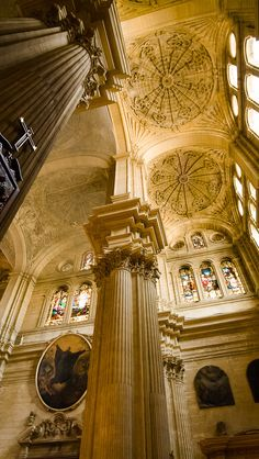 Malaga Sacred Architecture, Religious Architecture, Beautiful Architecture, Beautiful Buildings, Architecture Details, Beautiful Places, Spain Places To Visit, Places To See, Travel Around The World