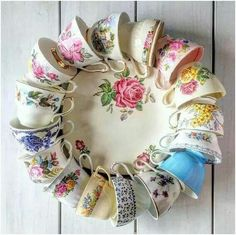China Teacup Wreath