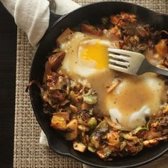 Brussel Spout, Turkey & Potato Hash will satisfy the whole bunch at dinner or breakfast and use uo those last few bits of leftover goodness. From @Serious Eats, found at www.edamam.com.
