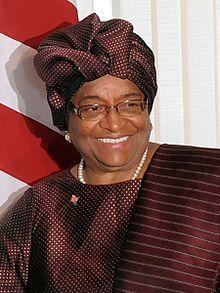 Ellen Johnson Sirleaf est une femme politique libérienne, la première femme élue au suffrage universel à la tête d'un État africain. Elle est co-récipiendaire du prix Nobel de la paix en 2011.