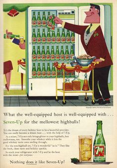 """""""Be Well-Equipped With Seven-Up"""" - December, 1958"""