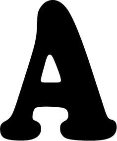 Tarefinhas: Modelos de letras de A a M para mural