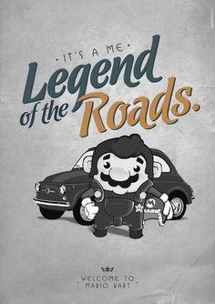 Welcome to Mario Kart - by Tankidea Studio Mario Kart, Mario And Luigi, Super Mario World, Super Mario Bros, Mario Tattoo, Video Game Art, Video Games, Geek Games, Mario Brothers