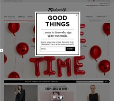 The Best of Email – Madewell (Newsletter Signup Pop-up Example) Newsletter Signup, Newsletter Layout, Newsletter Subscription, Email Marketing Design, Email Design, Website Design Inspiration, Web Design, Charity Websites, Website Sign Up