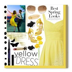 """""""In La La Land: Yellow Dresses"""" by winter-372 ❤ liked on Polyvore featuring H&M, Steve Madden, Gucci, Chloé and Avigail Adam"""