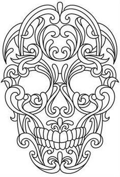 Scrollwork Skull_image