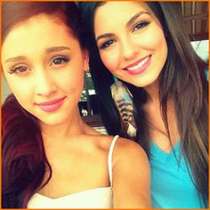 Ariana Grande And Victoria Justice Have Fun In Orlando, Florida On June 8, 2012