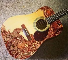 Sharpied guitar... I wouldn't be able to do this