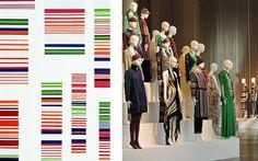 Ottavio Missoni, Untitled, 1973, 173×98 cm, acrylic on board. 'Le forme della moda', The Forms of Fashion installation of Missoni garments dating from 1953 to 2014 at MISSONI, L'ARTE, IL COLORE, 20…